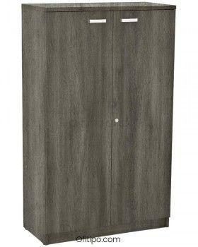 Armario de madera mediano Emese con puertas ofitipo 9