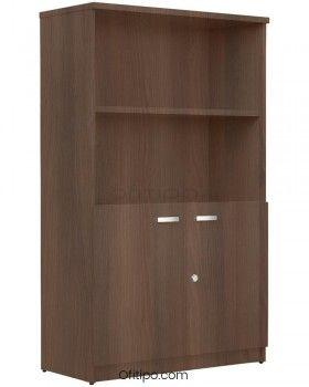 Armario de madera mediano Emese con puertas bajas ofitipo 2