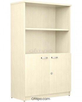 Armario de madera mediano Emese con puertas bajas ofitipo 6