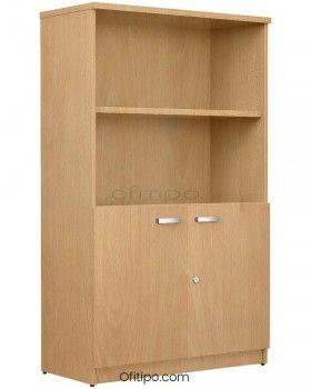 Armario de madera mediano Emese con puertas bajas ofitipo 8