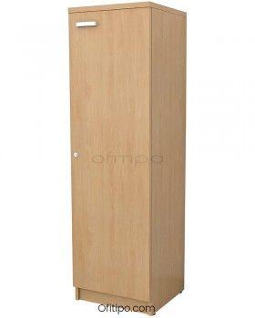 Armario de madera mediano Emese estrecho con puerta ofitipo 8