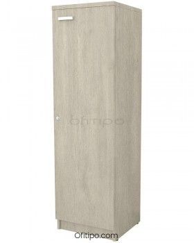 Armario de madera mediano Emese estrecho con puerta ofitipo 10