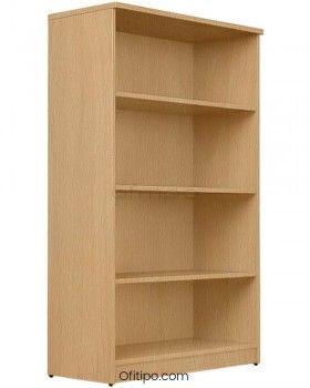 Armario estantería de madera mediano Emese sin puertas ofitipo 4