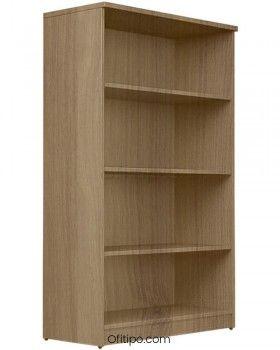 Armario estantería de madera mediano Emese sin puertas ofitipo 8