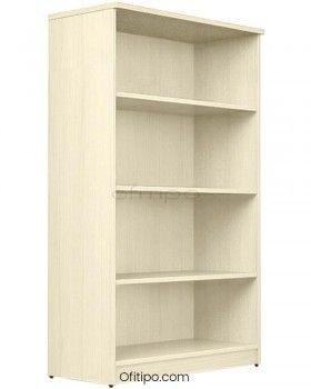 Armario estantería de madera mediano Emese sin puertas ofitipo 10