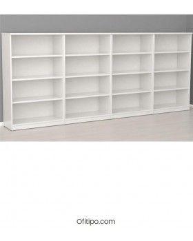 Armario estantería de madera mediano Emese sin puertas ofitipo 2