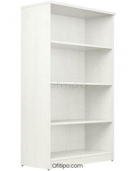 Armario estantería de madera mediano Emese sin puertas ofitipo 1