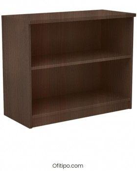 Armario estantería de madera bajo Emese sin puertas Ofitipo 2