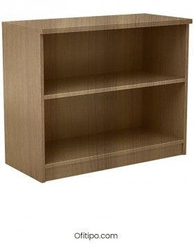 Armario estantería de madera bajo Emese sin puertas Ofitipo 3