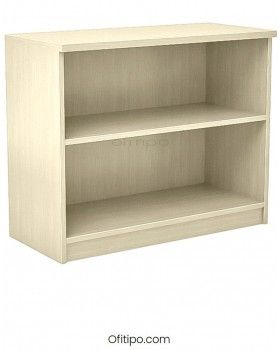 Armario estantería de madera bajo Emese sin puertas Ofitipo 5