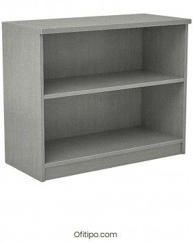Armario estantería de madera bajo Emese sin puertas Ofitipo 7