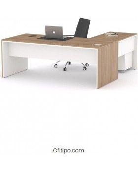 Mesa de despacho Eslem en L ofitipo 4