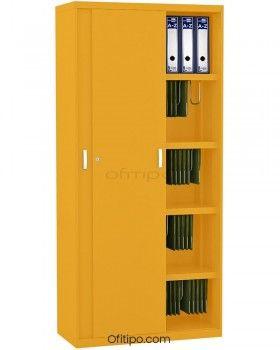 Armario metálico alto Arti con puertas correderas ofitipo 2