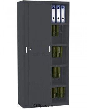 Armario metálico alto Arti con puertas correderas ofitipo 3