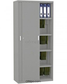Armario metálico alto Arti con puertas correderas ofitipo 7