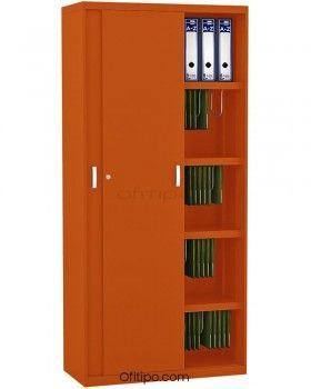 Armario metálico alto Arti con puertas correderas ofitipo 8