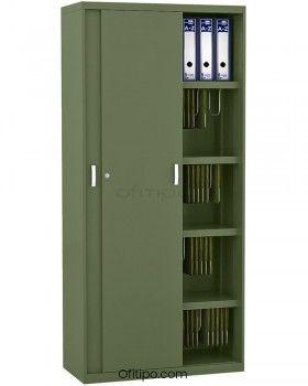 Armario metálico alto Arti con puertas correderas ofitipo 10