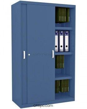Armario metálico mediano Arti con puertas correderas ofitipo 5