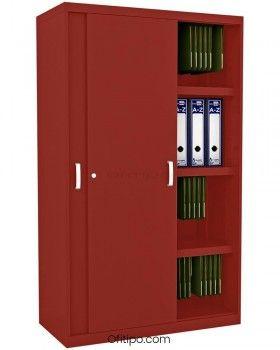 Armario metálico mediano Arti con puertas correderas ofitipo 10