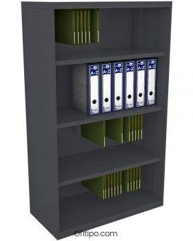 Armario estantería metálico mediano Arti sin puertas ofitipo 3