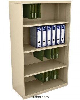 Armario estantería metálico mediano Arti sin puertas ofitipo 4