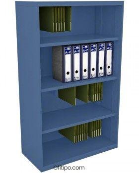 Armario estantería metálico mediano Arti sin puertas ofitipo 5