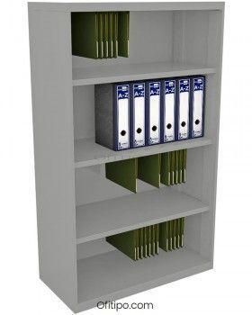 Armario estantería metálico mediano Arti sin puertas ofitipo 6