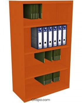 Armario estantería metálico mediano Arti sin puertas ofitipo 10