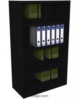 Armario estantería metálico mediano Arti sin puertas ofitipo 7
