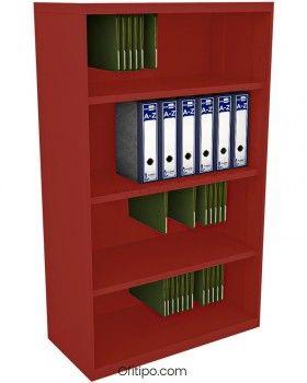 Armario estantería metálico mediano Arti sin puertas ofitipo 9