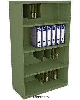 Armario estantería metálico mediano Arti sin puertas ofitipo 8