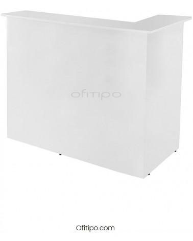 Mostrador de esquina blanco Mober Basic