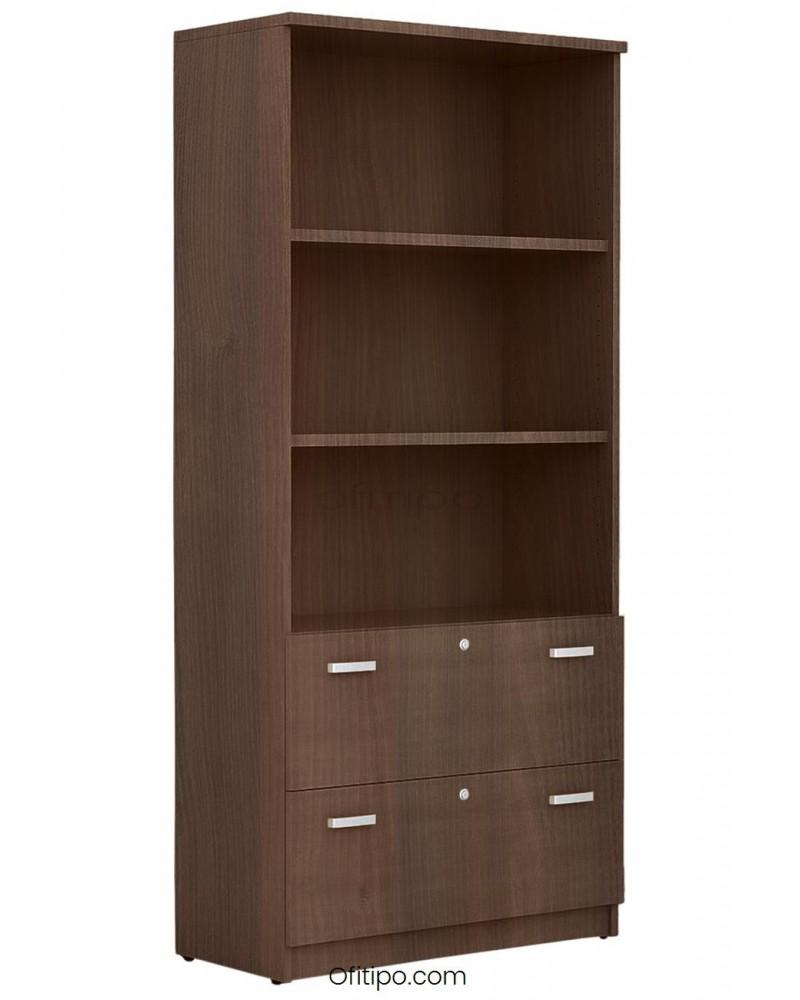 Armario archivador de madera alto Emese ofitipo 1