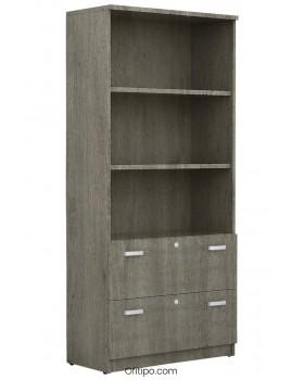 Armario archivador de madera alto Emese ofitipo 7