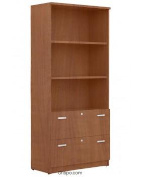 Armario archivador de madera alto Emese ofitipo 8