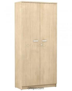 Armario de madera alto Emese con puertas ofitipo 12
