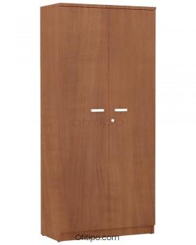 Armario de madera alto Emese con puertas ofitipo 13