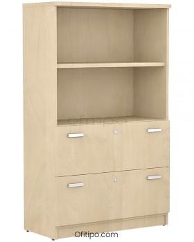 Armario archivador de madera mediano Emese ofitipo 12