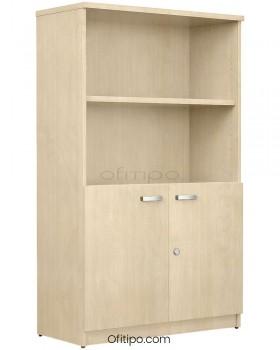 Armario de madera mediano Emese con puertas bajas ofitipo 11