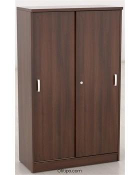 Armario de madera mediano Emese con puertas correderas ofitipo 2