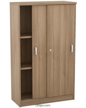Armario de madera mediano Emese con puertas correderas ofitipo 3