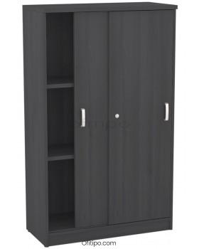 Armario de madera mediano Emese con puertas correderas ofitipo 12