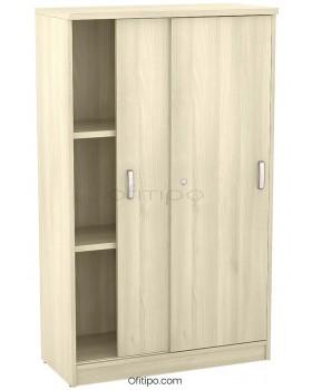 Armario de madera mediano Emese con puertas correderas ofitipo 5