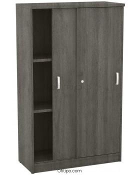 Armario de madera mediano Emese con puertas correderas ofitipo 6