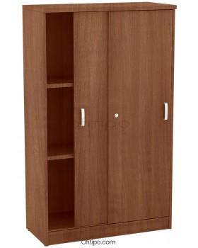 Armario de madera mediano Emese con puertas correderas ofitipo 9