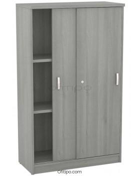 Armario de madera mediano Emese con puertas correderas ofitipo 11