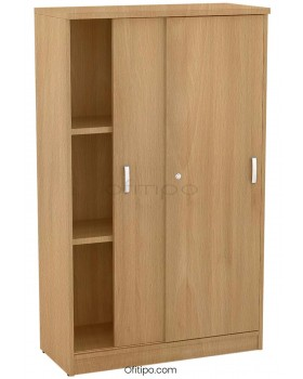 Armario de madera mediano Emese con puertas correderas ofitipo 10