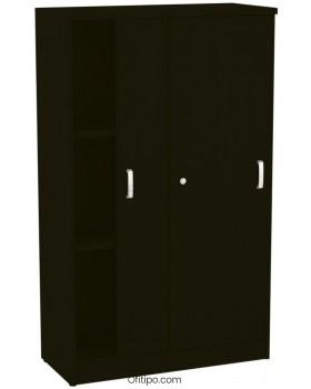 Armario de madera mediano Emese con puertas correderas ofitipo 7
