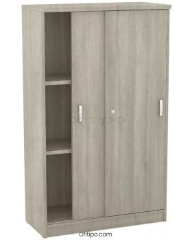 Armario de madera mediano Emese con puertas correderas ofitipo 8