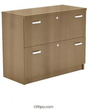 Armario archivador de madera bajo Emese ofitipo 5